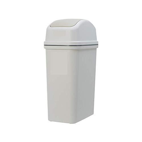 Sacudiendo la bote de basura, la papelera estrecha del hogar, con un contenedor de papel de desecho lidded, varios tamaños (tamaño: 13.3 veces; 22.5 veces; 42.5 cm) kshu ( Size : 13.3×22.5×42.5cm )