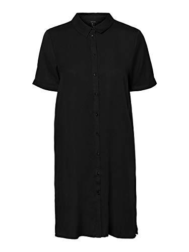 Vero Moda Vmchloe SS Tunic Dress Ga Noos Vestido Informal, Negro, M para Mujer