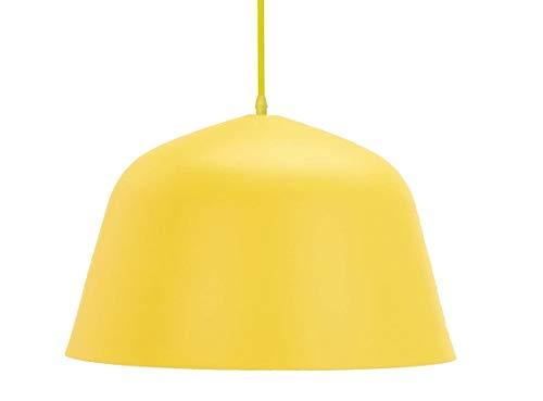 HABITMOBEL Lámpara Aladin, Colgante, Metal, Color Amarillo