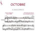 Partition : Octobre - Piano et paroles