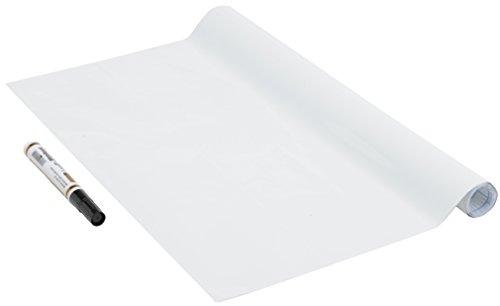 Tafelfolie, Whiteboard, Schreibtafel-Folie selbstklebend, Weißwantafel, Multifunktionstafel-folie, weiß, ohne Phthalate, 45cm x 1,5m, 150µm (Stärke: 0,15 mm), Venilia 53186