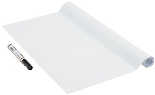 Venilia Klebefolie Tafel Tafelfolie, Schreibtafel-Folie, selbstklebend, Weiss, ohne Phthalate, 67,5cm x 1,5m, 150µm (Stärke: 0,15 mm), 53006, PVC, Whiteboard inkl. Stift, 67,5 cm x 1,5 m