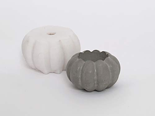Silicone Mold Concrete Pumpkin Diy Planter Candle Holder Pot Tea Light Candlestick Succulent Home Decor Desk