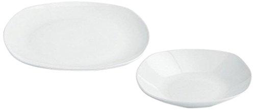 FOYO Assiette Pizza Tremp/é Verre,Assiettes Plates,Assiettes Desser Ensemble de 2