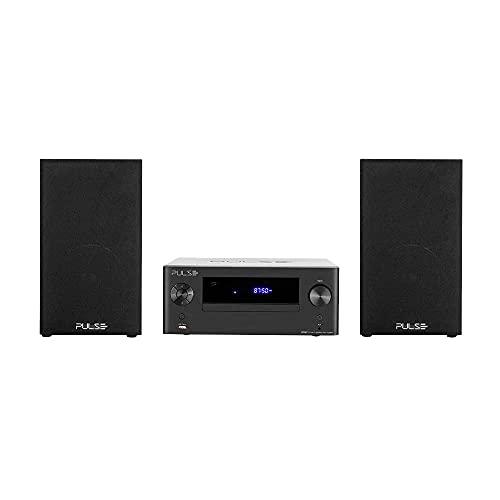 Retrô Pulse Mini System Vintage 250W CD Bluetooth USB SD FM e Auxiliar - SP387