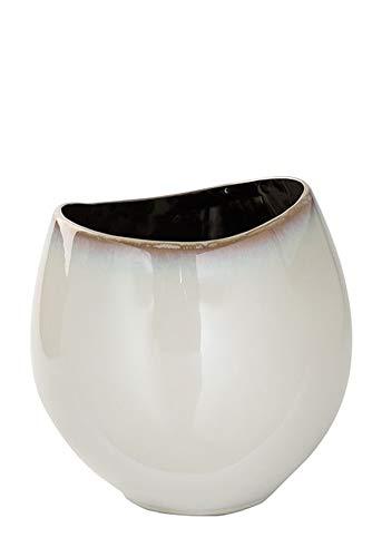 Fink ANTEA/Vase,Keramik,Glasur,Creme/H.22cm,D.22cm