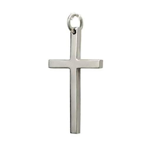 ANAZOZ 925 Sterling Silber Herren Kreuz Halskette Halskette Silber Groß Kette mit Anhänger Kette mit Gravur Dogtag Anhänger für Halskette Herren Silber mit Schwarzem Seil Punk Schmuck für Männer