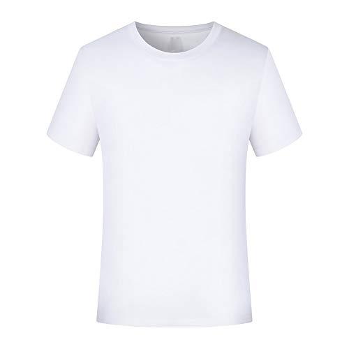 JYRD Hombre Camiseta De Manga Corta Color Sólido Casual Tops Algodón 100% Holgada con Cuello Redondo - Patrones Personalizables(S-L) (Color : B, Size : XL)