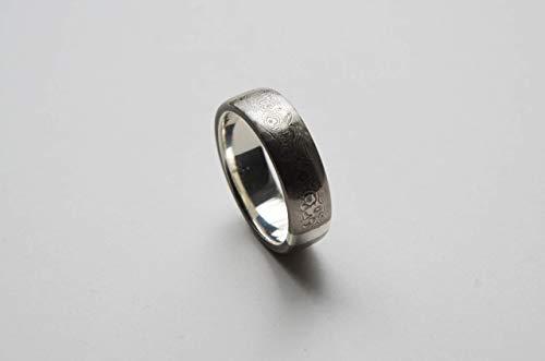 Mokume-Gane Ring für Männer. Männerring aus Silber und Mokume Gane. Damaskus Ring. Damaskus Stahl Ring, Herren Ring