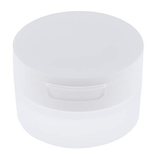 D DOLITY Vide Pots de Poudre Cosmétiques Récipient En Plastique Pot Couvercle De Tamis Miroir - 80g
