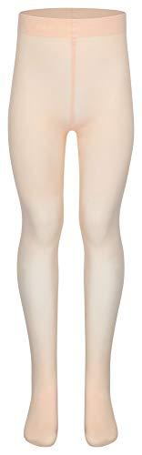 tanzmuster Kinder Ballett Strumpfhose Dana mit Ballenloch, ohne sichtbaren Zwickel in rosa-apricot - 116-128