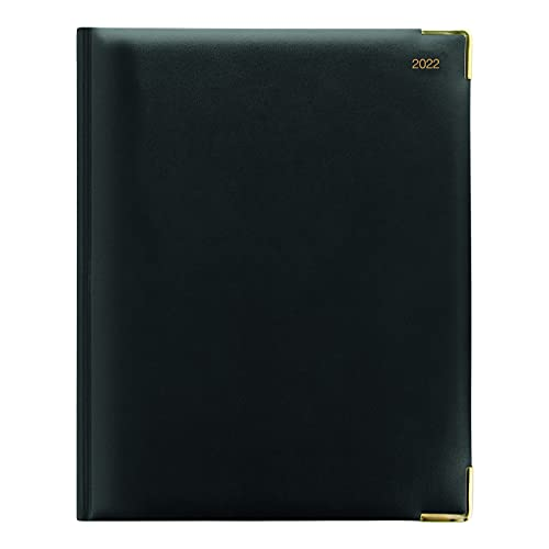 Letts Classic Weekly Planner, 12 Months, January to December, 2022, Week to View with Appointments, Gold Corners, 10.25″ x 8.25″, Black (C32YIBK-22)