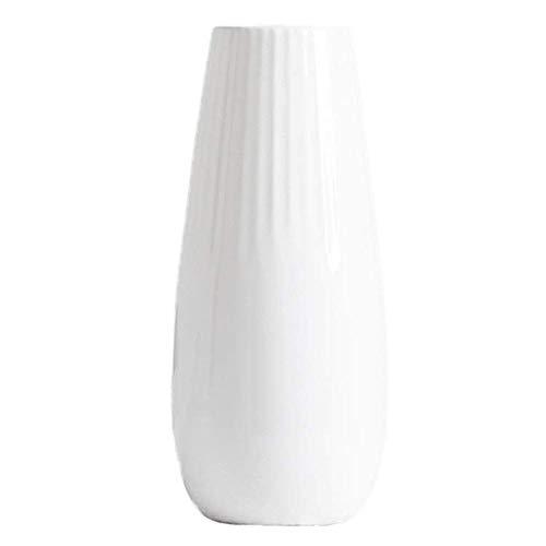 RXM Florero de cerámica Creativa Vida Sencilla habitación decoración de la Flor Flor de Agua Decorativa (Color : White)