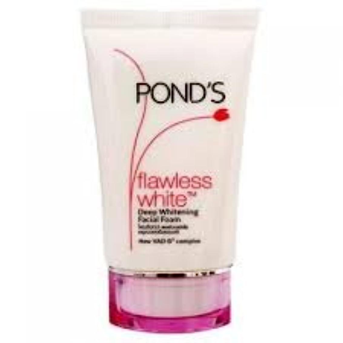 ヒール傾いた頑固なポンズ フローレス ホワイトニング フェイシャルフォーム Ponds Flawless White Deep Whitening Facial Foam 50g