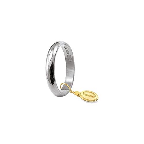 UNOAERRE Anillo de boda clásico de 3 gramos de oro de 18 quilates, 5,