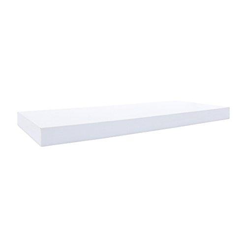 Rebecca Mobili 2er Set Wandregale, Hängeregale modernes Design, Weiß, MDF, Wohnzimmer Kinderzimmer Flur – Maße: 3,8 x 60 x 25 cm (HxLxB) - Art. RE6062