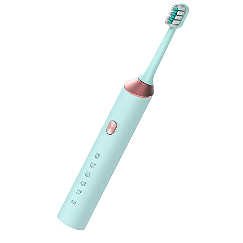 Lankfun Cepillos de Dientes electricos,Carga USB Inteligente Sound Wave-Azul Claro,Escova dentes electrica