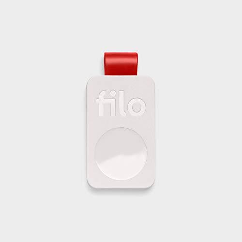 FiloTag - Localizzatore di Oggetti tramite App. Tracker Bluetooth. Colore Bianco. Misure: 25x41x5mm. Nuova Serie 2019. Made in Italy by Filo srl (Pack da 1, Bianco)