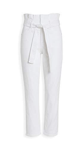 FRAME女子束带百褶钉住牛仔裤,相思,白,23