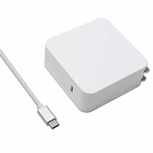 Cargador USB-C MacBook, 61W Adaptador para Portátil MacBook Pro 13 15 Inch, MacBook 12 Inch, MacBook Air 13 Inch, iPad Pro iPad Air, Type C Charger Power Supply Cord