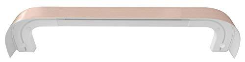 Blende für Gardinenschiene Vorhangschiene Deckenschiene Schiene Aufklipsblende Buche
