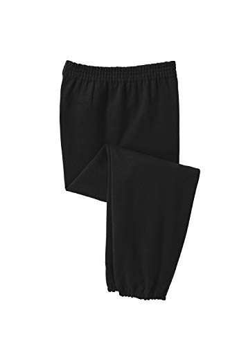 Joe's USA - Mens Ultimate Sweatpants with Pockets-Black-4XL