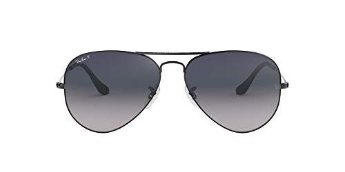 Ray-Ban RB3025 Aviator Sonnenbrille Polarisiert 62mm, Grau (Gunmetal 004/78), 62 mm