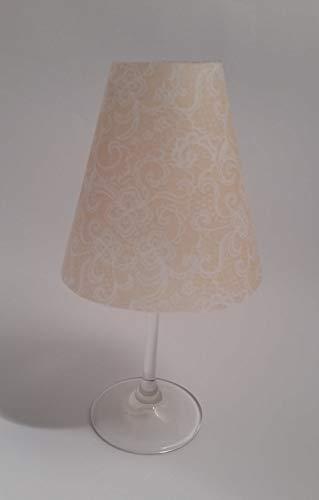 5 Tischlichter Lampenschirme für Weinglas Zuschnitte Ornamente