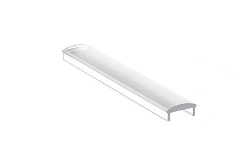 Diffuser PC-afdekking transparant met 60 grote vergrootglas voor aluminium strips universeel 1 meter