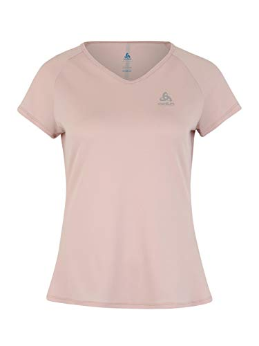 Odlo T-Shirt s/s Crew Neck Ceramicool T-Shirt Femme Sepia Rose FR : S (Taille Fabricant : S)