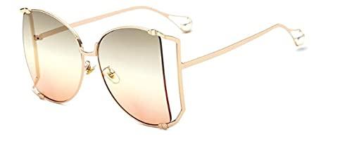 ShZyywrl Gafas De Sol De Moda Unisex Gafas De Sol De Gran Tamaño para Mujer, Gafas De Sol Vintgae De Moda, Gafas De Sol Cuadradas, Gafas De Montura Hueca De Me