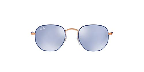 Ray-Ban Rj9541sn 264/1u 44 Mm Occhiali da Sole, Blu (Copper Top Blue/Blueflashsilver), 44 Unisex-Bambini