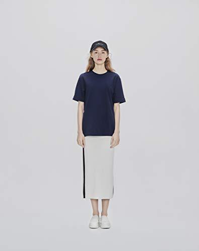 Ce& (シーイーアンド) ユニセックス カラーTシャツ 半袖 (Navy/M)