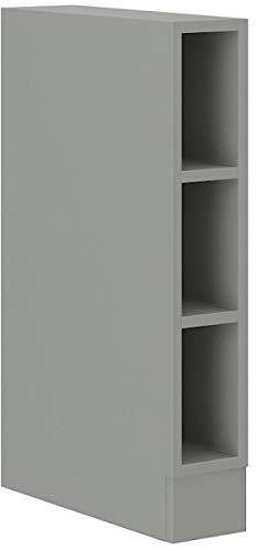 Unterschrank Regal 15 cm Bianca Grey Rose - Grau Küchenzeile Küchenblock