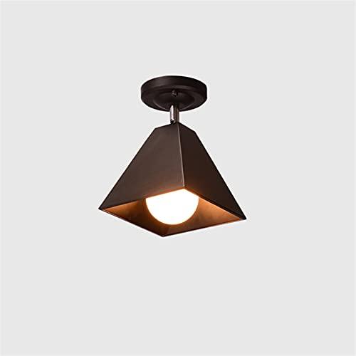 E27 Lámpara de techo de hierro forjado nórdico moderno simple labrado hierro pasillo montaje de montaje de montaje de pared luces montadas en la pared accesorios de iluminación restaurantes Decoración
