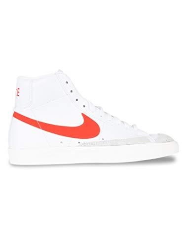 Nike Blazer Mid \'77 Vintage, Zapatillas Deportivas Mujer, White Habanero Red Sail, 42 EU