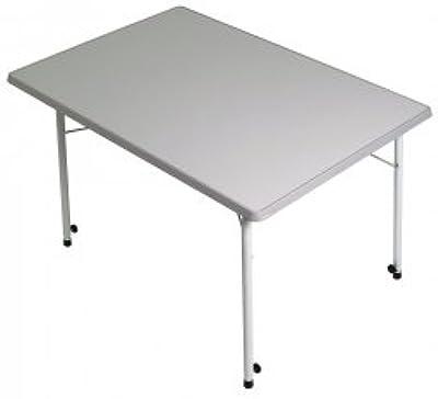 Miadomodo Table de Jardin 147 x 87 x 74 cm Gris Clair ...