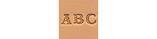 "Tandy Leather Alphabet Stamp Set 3/8"" (1 cm) Fancy 4907-00"