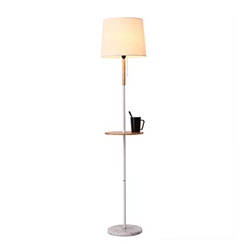 QTDH Moderne massief houten vloerlamp met planken, Nordic Palo Alto Stare van voet, licht pianolicht voor woonkamer, kantoor, slaapkamer