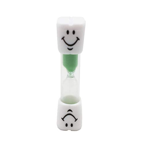MILISTEN Sanduhr Sanduhr Uhr Lächeln Muster Zahnbürste Timer 3 Minuten für Spiele Klassenzimmer Home Office Küche Dekoration (Grün)