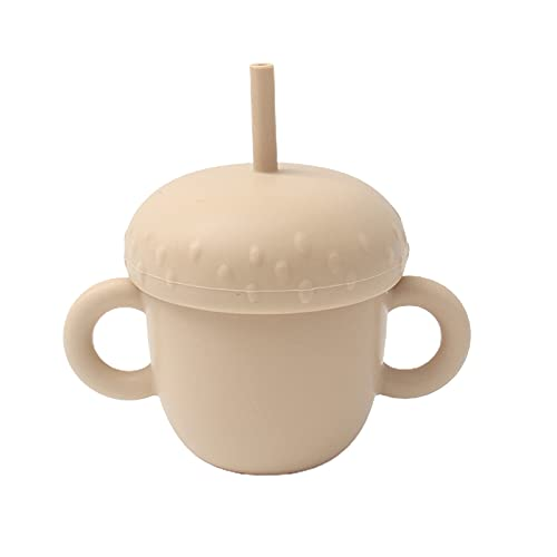 Syfinee Silicona Sippy Cup Trainer - Tazas de paja para bebé y niño con 2 asas