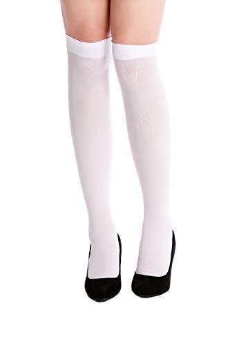 DRESS ME UP - W-019W-white Strümpfe Stockings kurz Kniestrümpfe weiß Krankenschwester Gothic Lolita