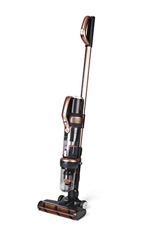 Fakir 8682511900486 Inovax-Aspiradora de Mano y Mango inalámbrico 2 en 1, Cepillo Turbo UV-C para Limpieza de colchones, Motor BLDC, Filtro EPA, 400 W/25,2 V, Plástico