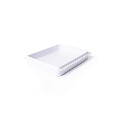 Review Elite Global Solutions M7562LID-W Rectangular Reversible Bin Lid, 7 1/2 x 6, Melamine, Whit...