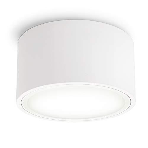 SSC-LUXon CELI-X Aufbau Spot LED flach weiß mit schöner Lichtfläche - LED GX53 neutralweiß 3,5W 230V - Deckenspot rund Ø 95mm