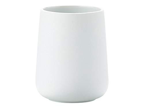 Zone Denmark Nova Zahnputzbecher/Zahnbürstenhalter für Zahnbürste und Zahnpasta, Porzellan mit Soft Touch-Beschichtung, weiß