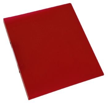 Schulordner A4 transluz. rot CONNECT KF02912 16mm Material Polypropylen transluzent transp arent rot, Ringbuch für Format A4, Mit E
