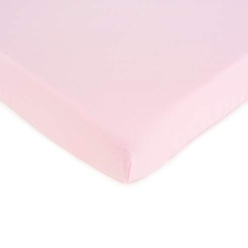 Review Of SheetWorld Fitted 100% Cotton Jersey Square Play Yard Sheet Fits Joovy 38 x 38, Baby Pink,...