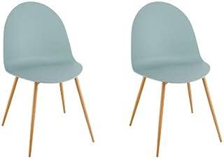 Pirouette Paris 7576140 - Juego de 2 sillas (Polipropileno, 54 x 47 cm, 54 x 47 x 81,5 cm), Color Azul
