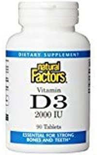 Natural Factors - Vitamin D3 2000 IU, Supports Healthy Bones, 90 Tablets